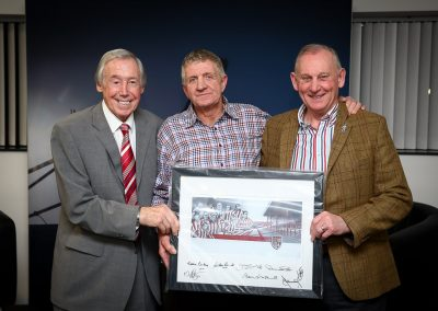 An evening with Gordon Banks hosted by Terry Conroy in the Waddington Suite at the Britannia Stadium 24th March 2016 - image © phil greig 2016 www.greigphoto.com  NOT FOR PRINT  NOT TO BE USED BY ANY OTHER PARTY